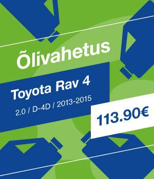 Õlivahetus Toyota RAV 4 113.90 EUR