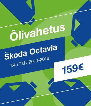 Õlivahetus Škoda Octavia 159 EUR